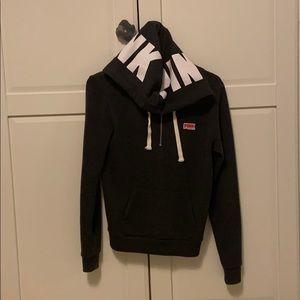 PINK Victoria's Secret Grey sweatshirt half zip